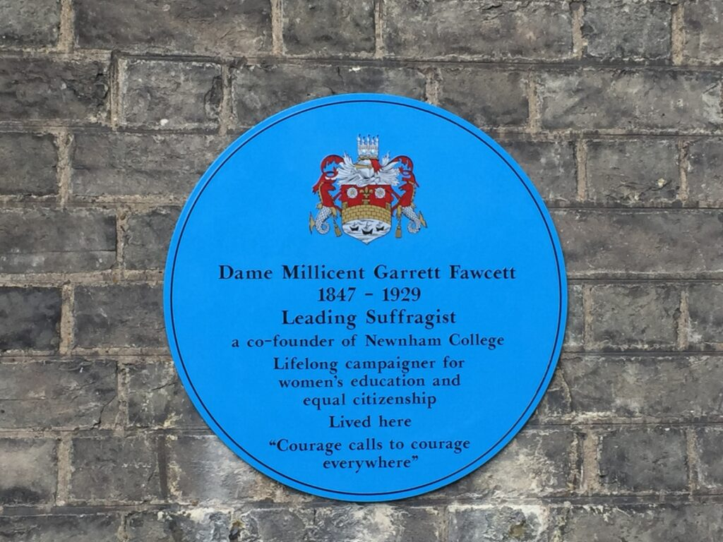 Plaque to Millicent Fawcett