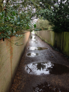 Pedestrian and cycle tracks become unusable in wet weather