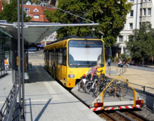 Stuttgart bus with bike rack