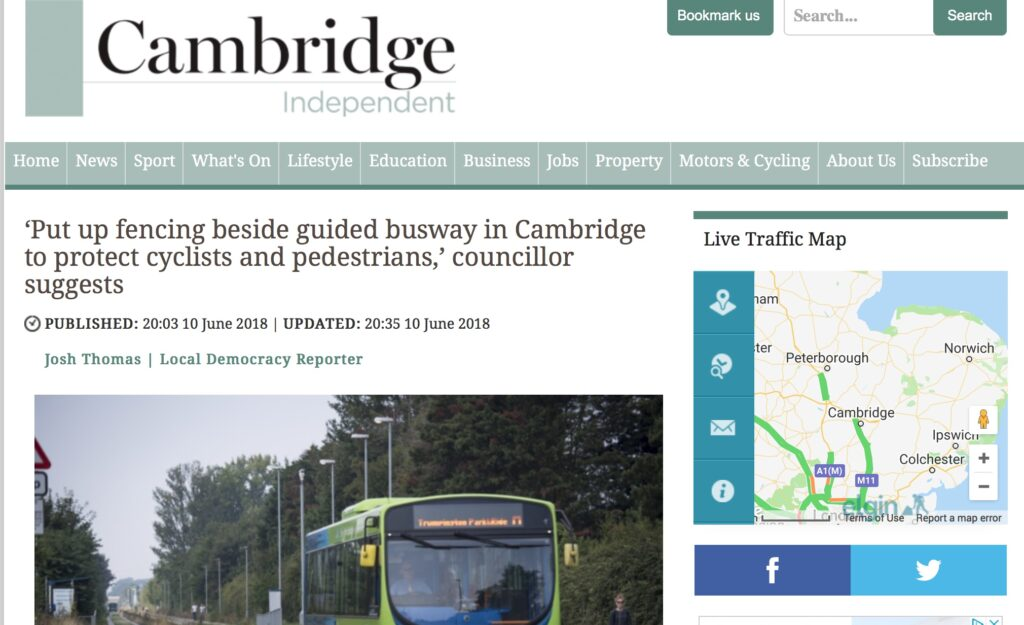 Calling for safety features on the Busway
