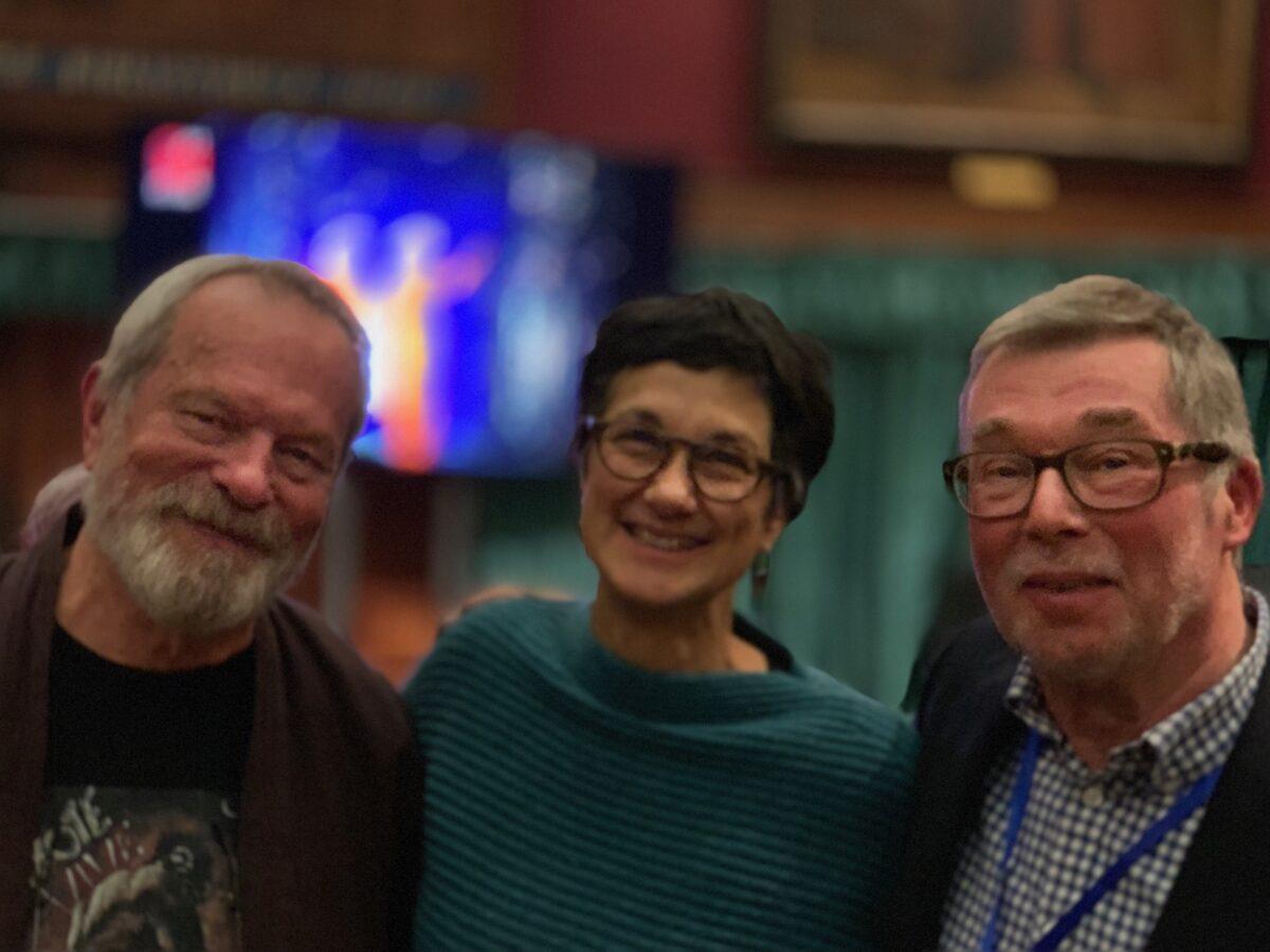 Katie with Terry Gilliam and Tony Jones