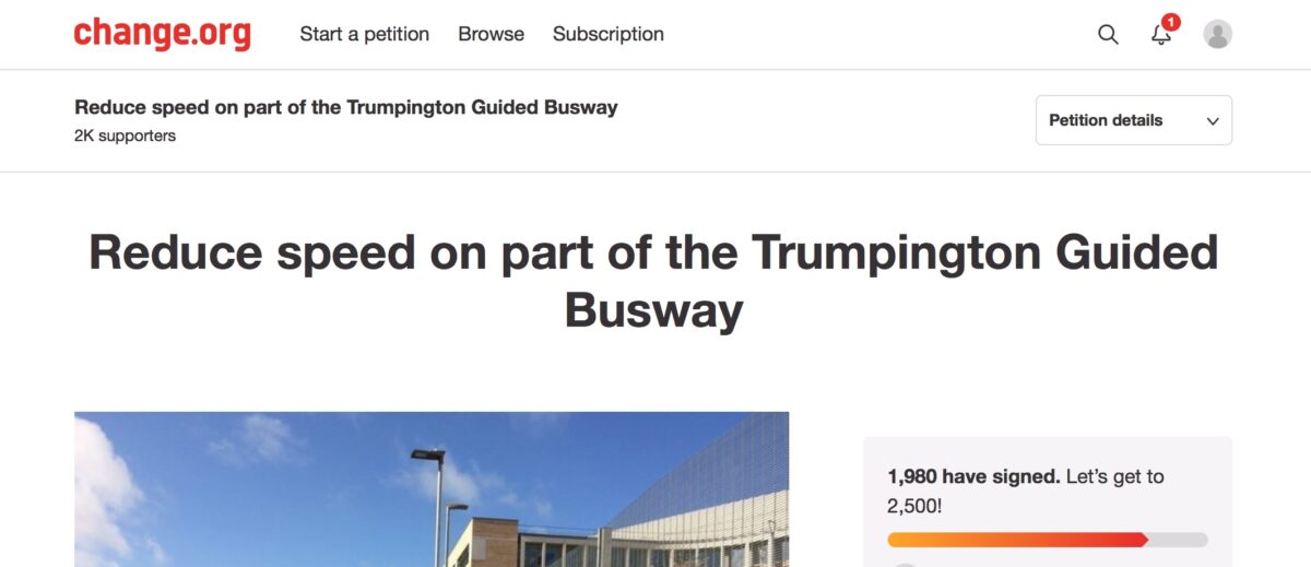 Let's make the Guided Busway safer