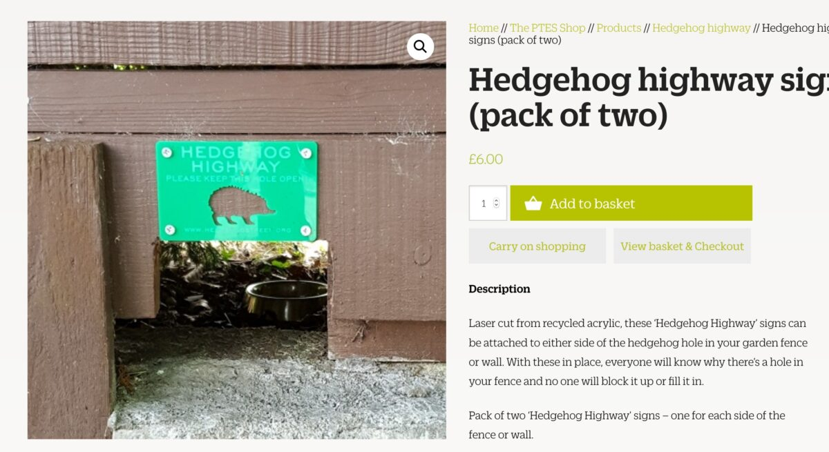 Helping our Hedgehogs Get Around
