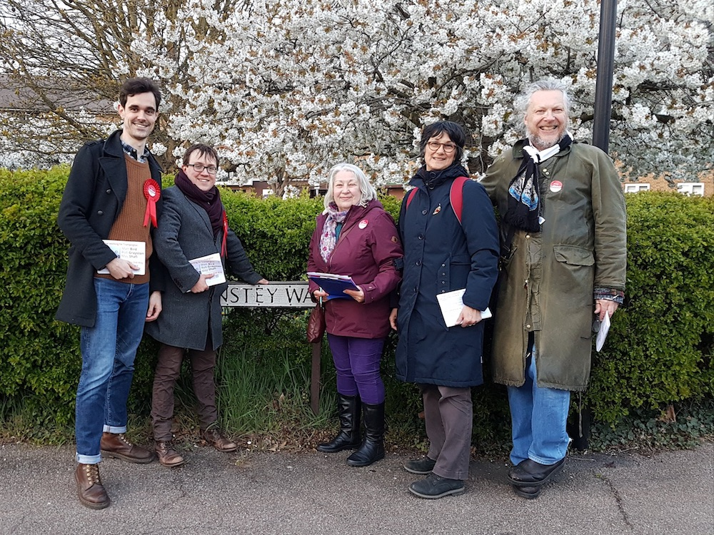 Campaigning in Trumpington