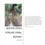 Report on Water Crisis Forum