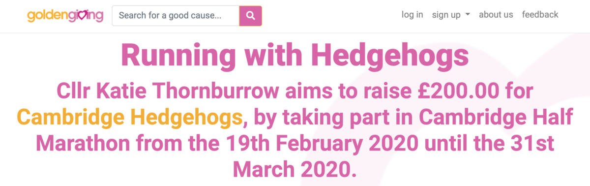 Running with Hedgehogs